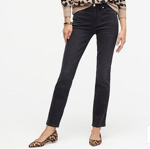 J. Crew Black Faded Matchstick Jeans